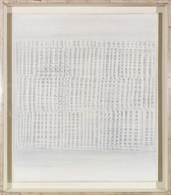 Heinz Mack - Dynamische Struktur Grau-Weiß - Rahmenbild
