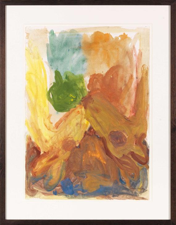 Georg Baselitz - Ohne Titel (zwei Rehe) - Frame image