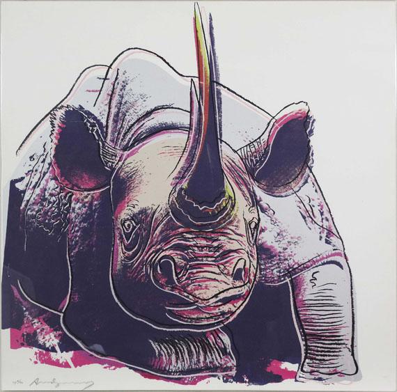 Andy Warhol - Rhinoceros (Endangered Species) - Rahmenbild