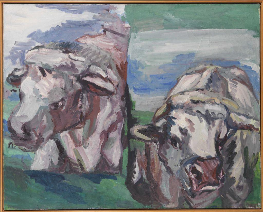 Georg Baselitz - Zwei halbe Kühe - Frame image