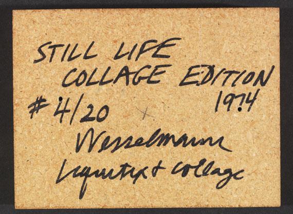 Tom Wesselmann - Still Life Collage Edition - Back side