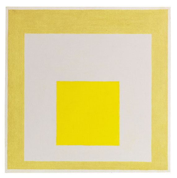 Josef Albers - Study for Homage to the Square: Two Yellows with Silvergray -