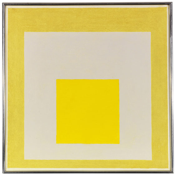 Josef Albers - Study for Homage to the Square: Two Yellows with Silvergray