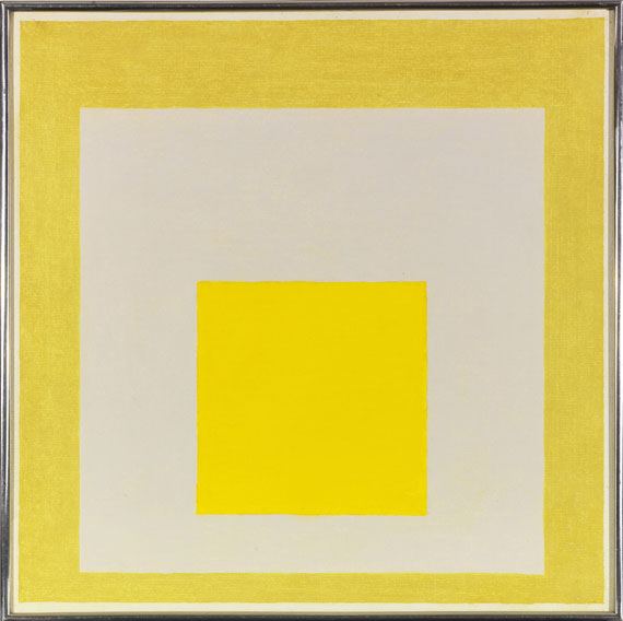 Josef Albers - Study for Homage to the Square: Two Yellows with Silvergray - Frame image