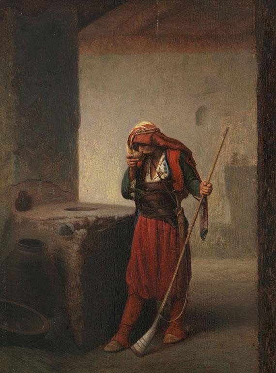 Jean-Léon Gérôme - Arnaute buvant