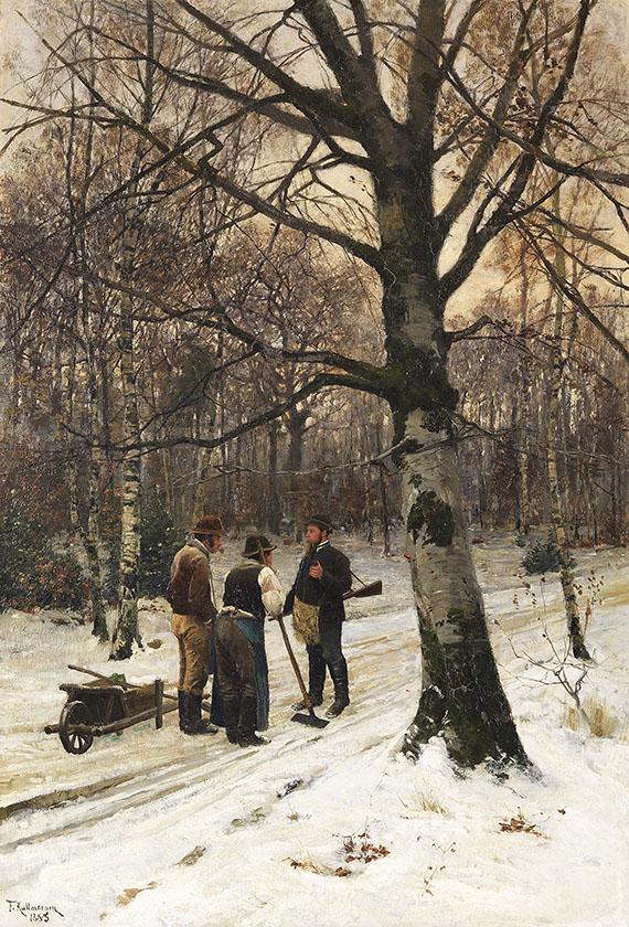 Friedrich Kallmorgen - Wald im Winter