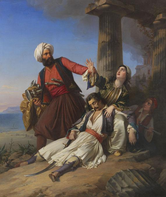 Paul Emil Jacobs - Szene aus dem Griechischen Freiheitskampf