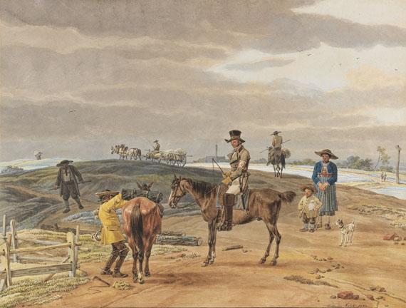 Wilhelm von Kobell - Der Postillon auf dem Weg nach Weilheim