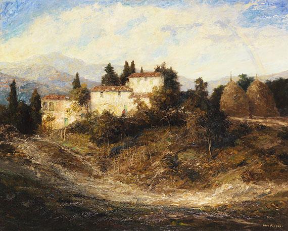 Otto Pippel - Sommerliche Landschaft in der Toscana