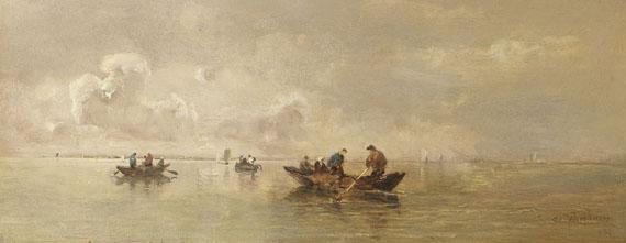 Joseph Wopfner - Fischer auf dem Chiemsee