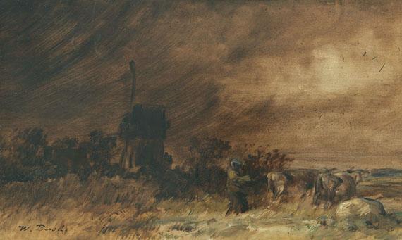 Wilhelm Busch - Wiedensahler Bockmühle bei aufziehendem Sturm