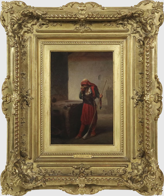 Jean-Léon Gérôme - Arnaute buvant - Frame image