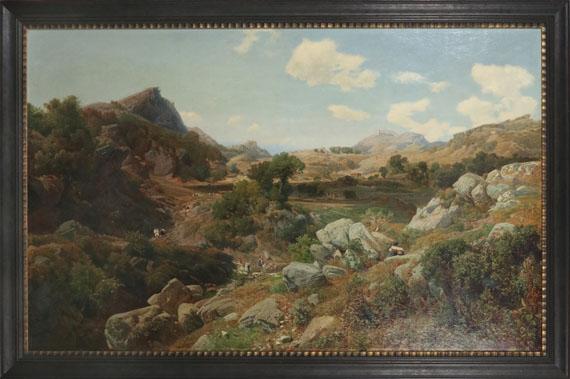 Valentin Ruths - Ziegelhütten im Sabinergebirge - Rahmenbild