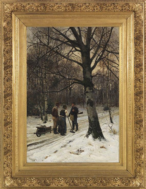 Friedrich Kallmorgen - Wald im Winter - Rahmenbild