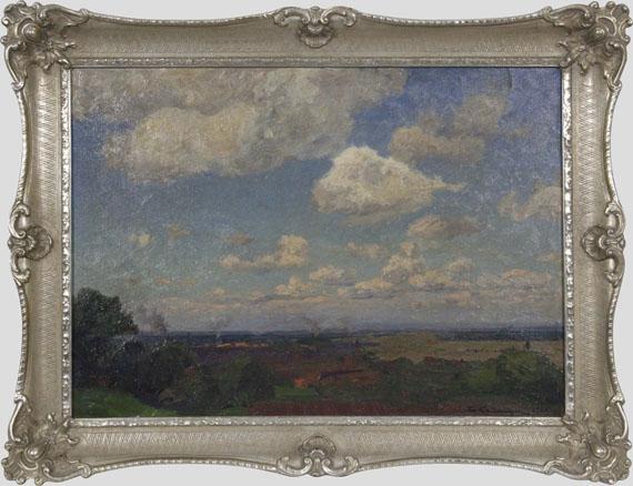 Friedrich Kallmorgen - Sommerwolken - Frame image