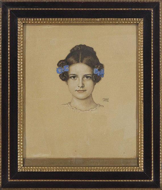Franz von Stuck - Bildnis der Tochter Mary - Rahmenbild
