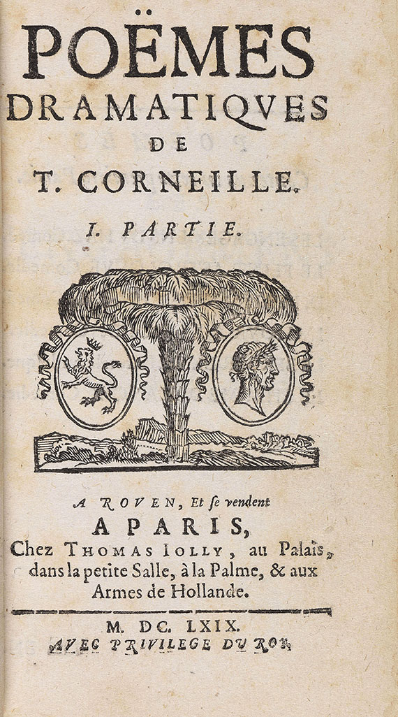 Pierre Corneille - Le Theatre. Poems. 9 Bde.