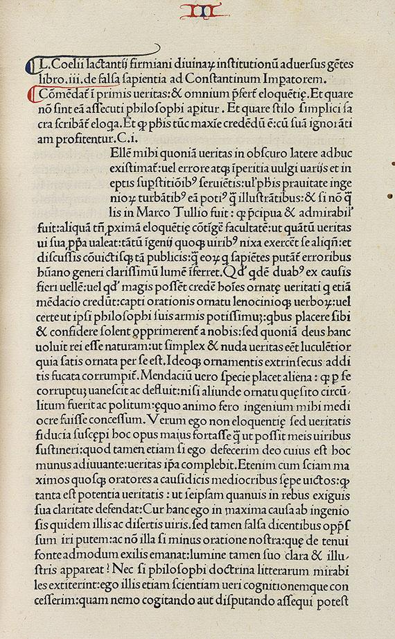 Lucius Caecilius F. Lactantius - De divinis institutionibus. -