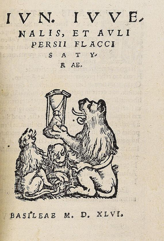 Antike - Sammelband mit 3 Baseler Drucken, 1546-1563.