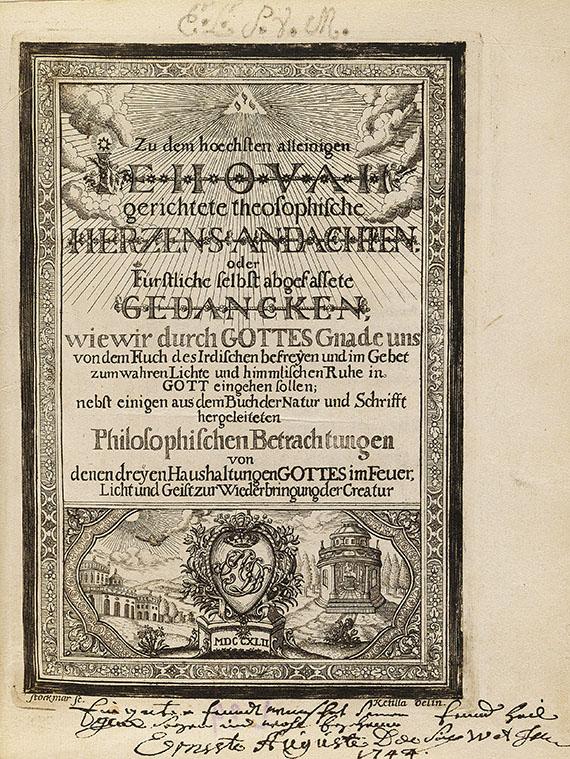 Ernst August I. (Sachsen-Weima - Jehovah Herzensandachten. 1742.