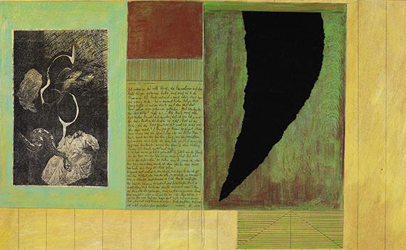 Barbara Fahrner - Borges, Die Rose. 2001. - Weitere Abbildung