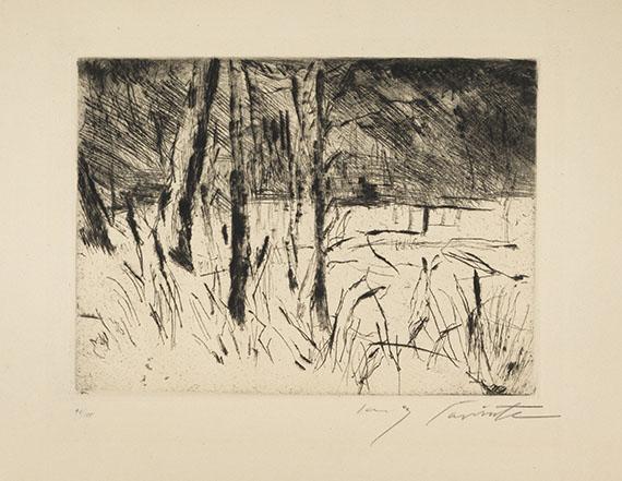 Lovis Corinth - Tiergarten im Januar