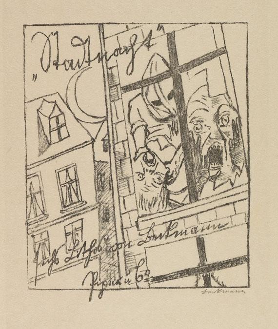 Max Beckmann - Stadtnacht mit VA-Mappe, zus. 2 Tle. - Weitere Abbildung