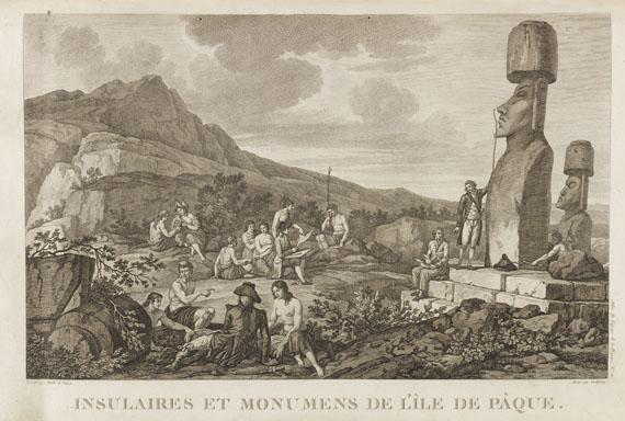 Jean Francois Galaup de La Perouse - Voyage de la Pérouse. 4 Bde. + 1 Atlas