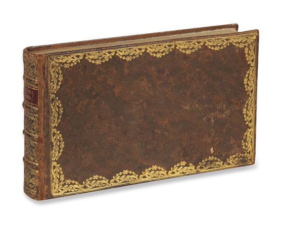 Novalis - Stammbuch aus Freiberg mit Eintragung von Novalis. 1798-1811. - Weitere Abbildung