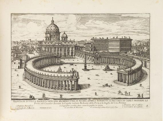 Giovanni Battista Falda - Il nuovo teatro delle fabriche ... di Roma moderna