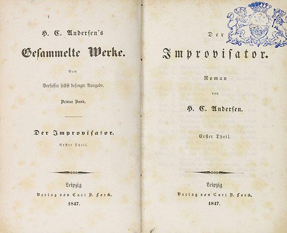 Hans Christian Andersen - Werke. 30 Tle. in 10 Bdn.