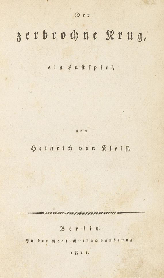 Heinrich von Kleist - Der zerbrochne Krug, ein Lustspiel.