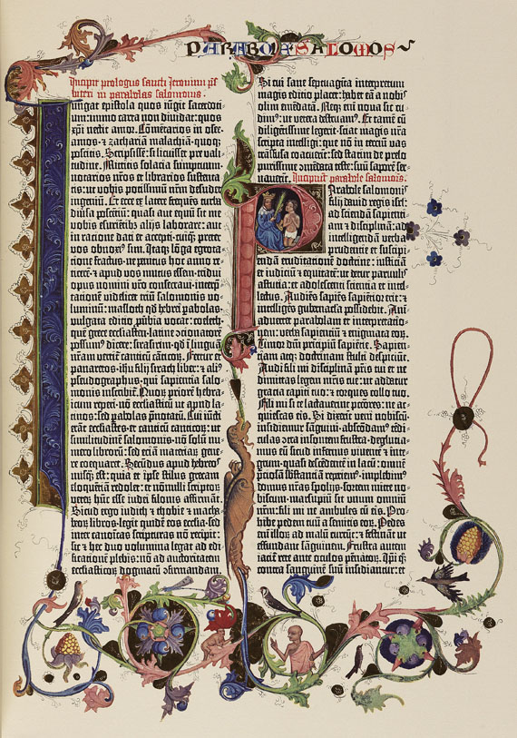 Gutenberg-Bibel - Gutenberg-Bibel. 2 Werke + Kommentarband.