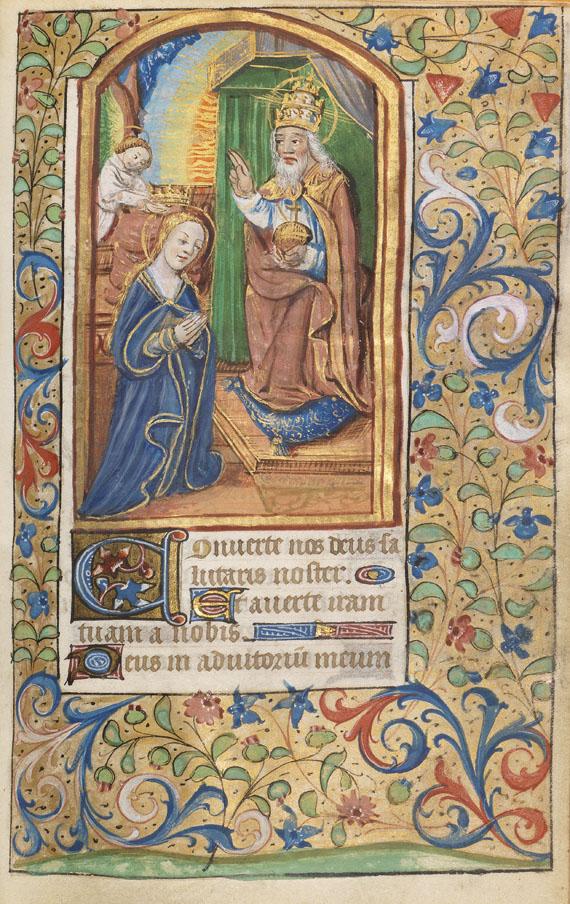 Manuskripte - Horae B.M.V. Lateinische und Französische Handschrift auf Pergament - Weitere Abbildung