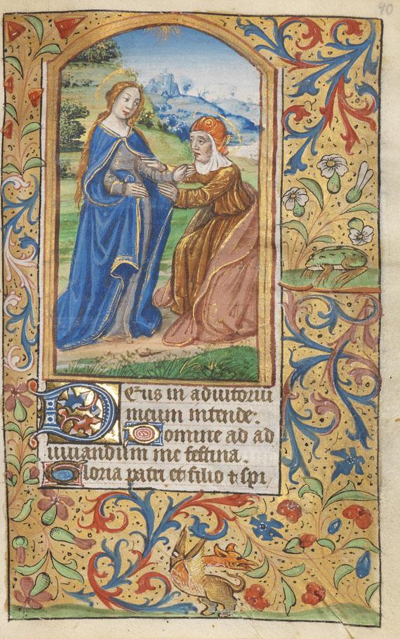 Manuskripte - Horae B.M.V. Lateinische und Französische Handschrift auf Pergament