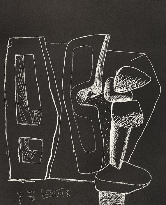 """Le Corbusier - Mappenwerk: Série Panurge. Dabei: 2 Bll. Lithografie """"Autrement que sur terre"""" und """"Portrait"""" -"""