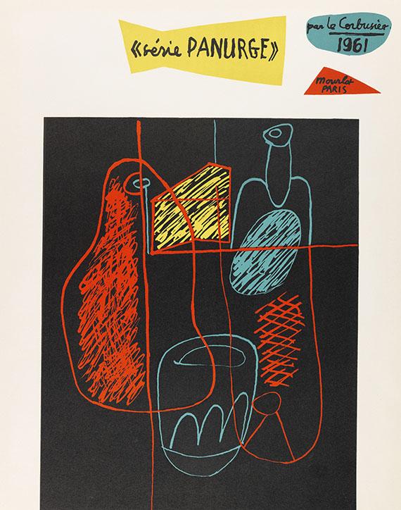 """Le Corbusier - Mappenwerk: Série Panurge. Dabei: 2 Bll. Lithografie """"Autrement que sur terre"""" und """"Portrait"""""""