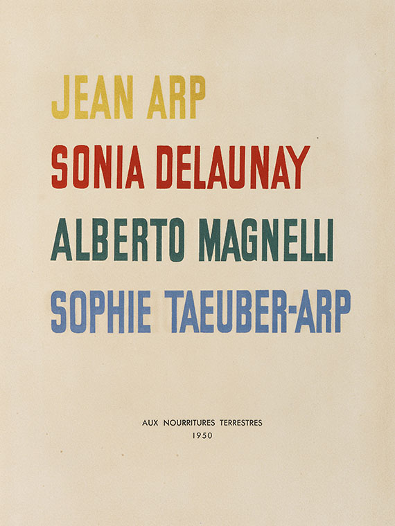 Hans (Jean) Arp - Album Arp, Delaunay u. a. -