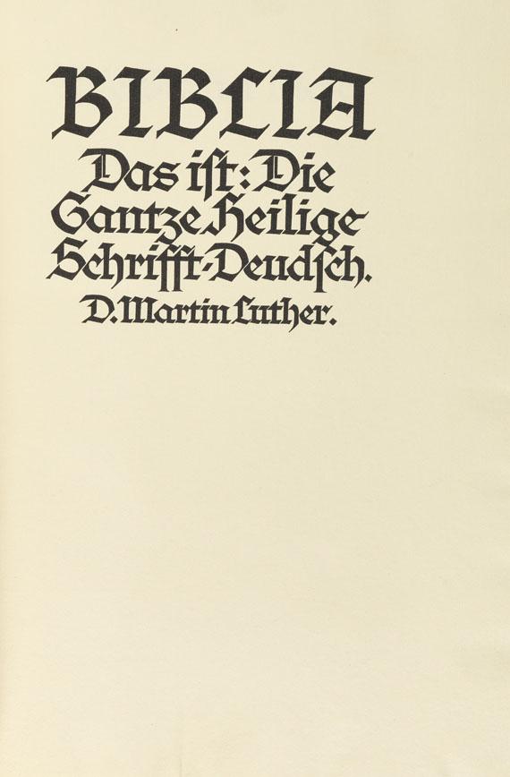 - Biblia Germanica. 5 Bde. Bremer Presse, 1926. -