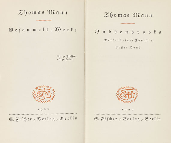 Thomas Mann - Gesammelte Werke. 10 Bde.