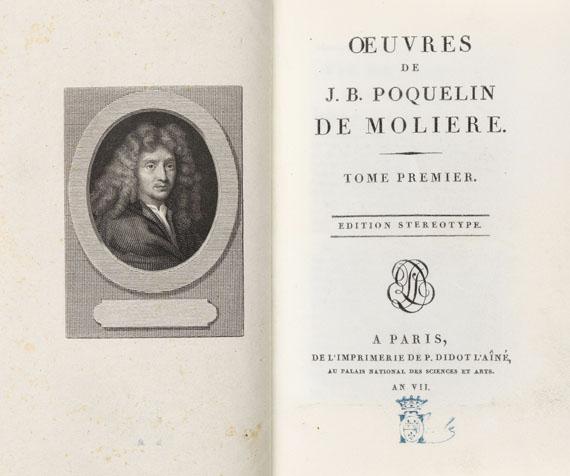 Jean Baptiste Poquelin Molière - Oeuvres. 8 Bde. -