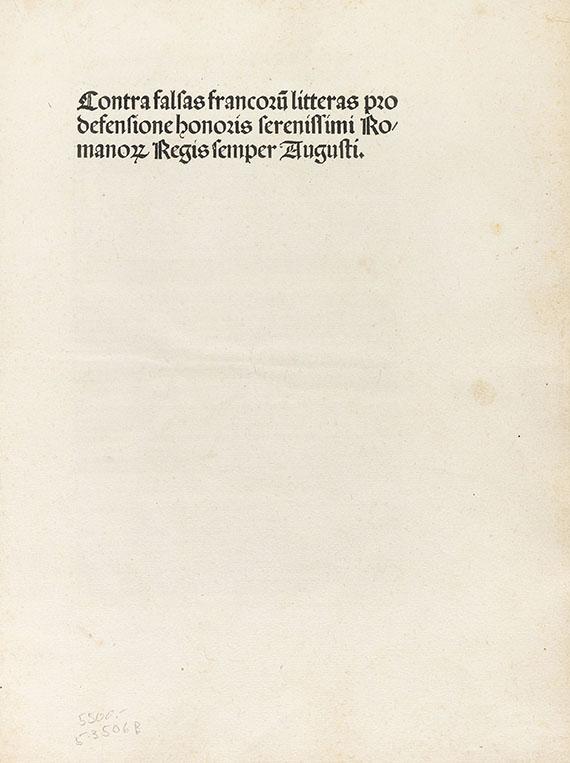Maximilian I. - Contra falsas Francorum