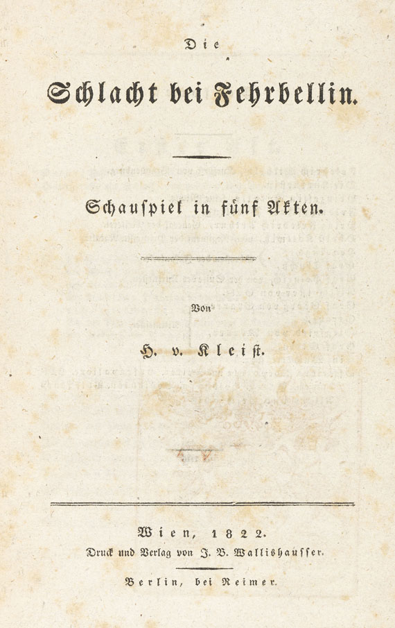 Heinrich von Kleist - Die Schlacht bei Fehrbellin