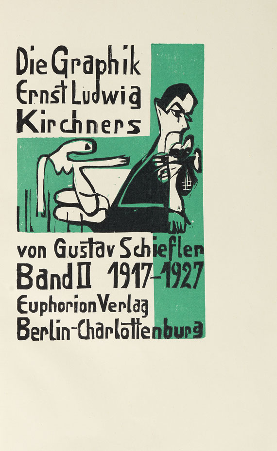 Gustav Schiefler - Die Graphik Ernst Ludwig Kirchners. 2 Bde. -