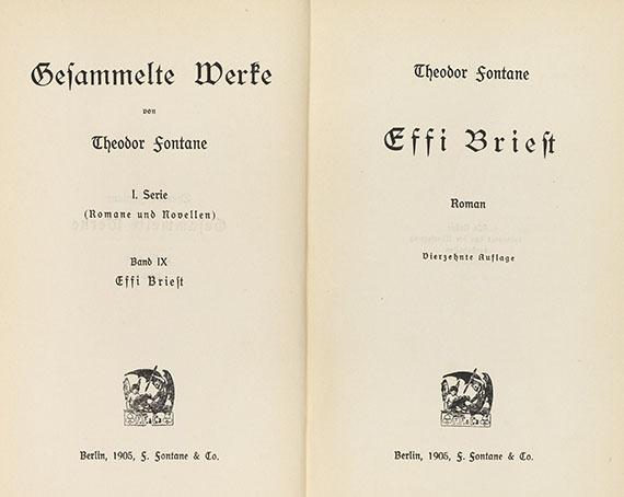 Theodor Fontane - Gesammelte Werke. 21 Bde. - Weitere Abbildung