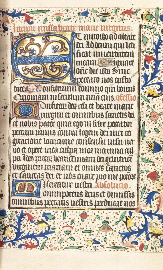 Manuskripte - Stundenbuch. Südl. Niederlande, um 1450 -