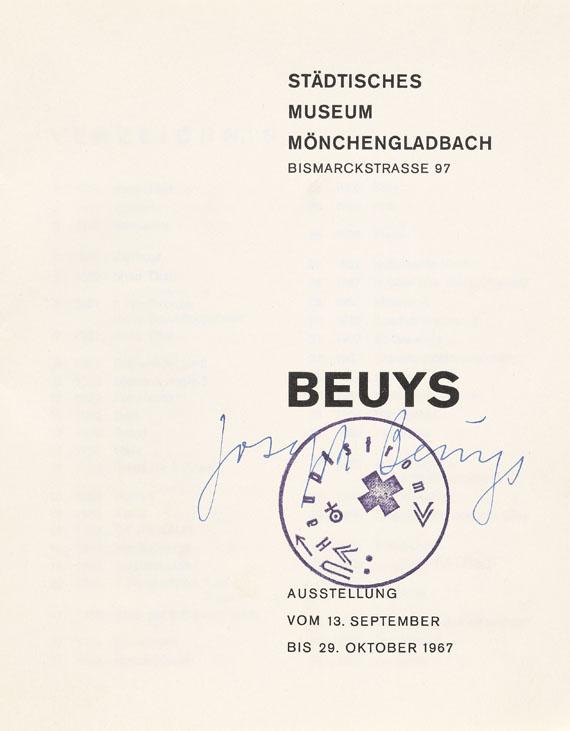 Joseph Beuys - Mönchengladbach-Katalog 1967. Dabei: 24 Stunden (mit Mehlsäckchen).