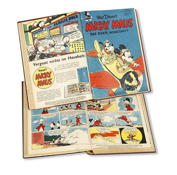 Walt Disney - Micky Maus, 54 Hefte in 2 Bdn.