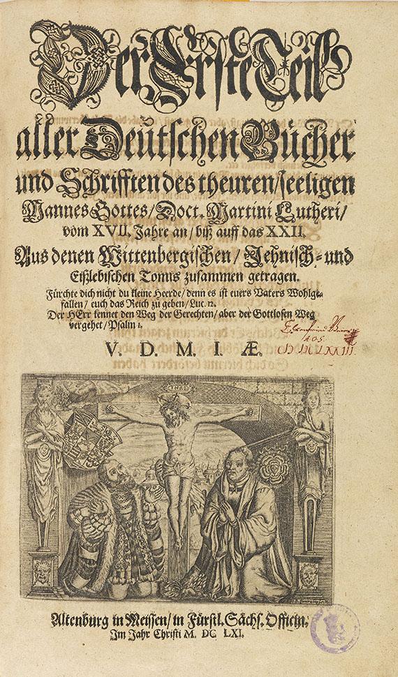 Martin Luther - Deutsche Schriften. 10 Bde. in 7. -