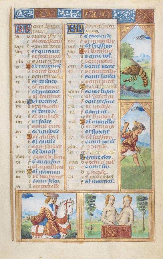 Manuskripte - Stundenbuch. Paris, um 1510.